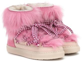 Inuikii Kids Sneaker fur and suede boots