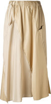 Julien David pleated skirt - women - Silk/Nylon/Polyester - M