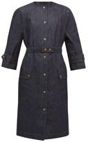 Symonds Pearmain - Belted Patch-pocket Denim Coat - Womens - Denim