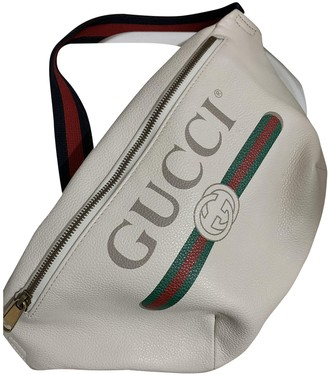 Gucci White Leather Bags