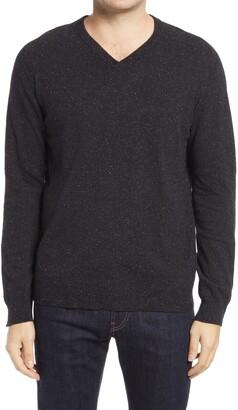 Billy Reid Saddle Wool Blend V-Neck Sweater