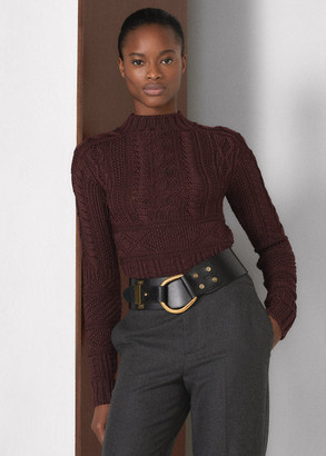 Ralph Lauren Guernsey Turtleneck Sweater