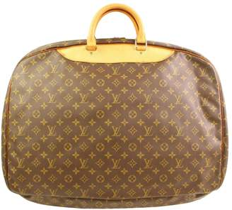 Louis Vuitton Vintage Alize Brown Cloth Travel Bag
