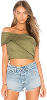 J.o.a. Wrap Style Tank Top in Olive. - size L (also in M,S,XS)