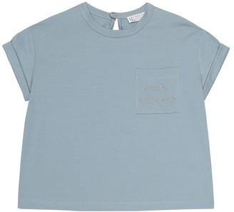 BRUNELLO CUCINELLI KIDS Exclusive to Mytheresa a Embroidered cotton T-shirt