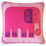 Jonathan Adler Pink Elephant Needlepoint Cushion