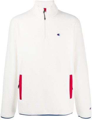Champion Zipped Embroidered Logo Jumper