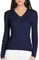 Polo Ralph Lauren V-Neck Side Slit Sweater