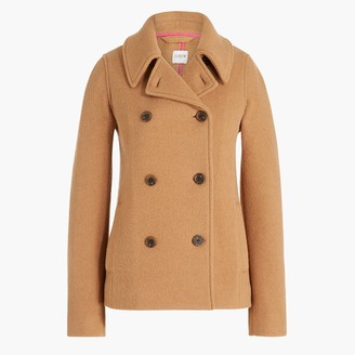 J.Crew Boiled wool-blend peacoat