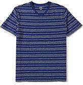 Roundtree & Yorke Soft-Washed Short-Sleeve Striped V-Neck Tee
