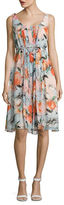 Donna Morgan Pleated Floral Dress