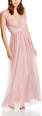 Little Mistress Women's Rose Jewel Bust Maxi Sleeveless Dress