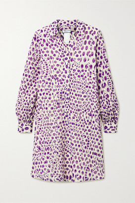 Paul & Joe Floral-print Fil Coupe Cotton Dress - Purple