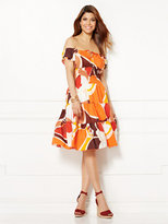 New York & Co. Eva Mendes Collection - Smocked Paulina Dress - Print
