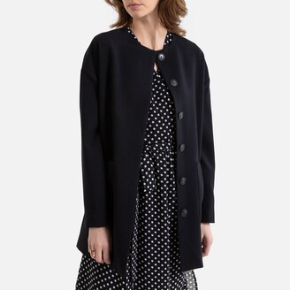 La Redoute Collections Light Collarless Coat