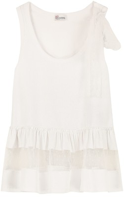 RED Valentino Tulle Details Cotton Top