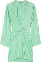 Issa Silk-jersey wrap-effect dress