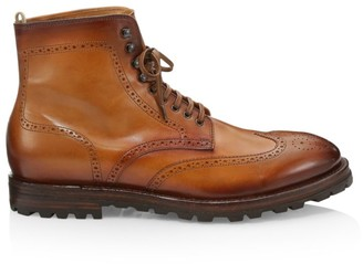 Officine Generale Vail Wingtip Leather Lace-Up Boots