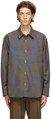 Solid Homme Blue Check Shirt