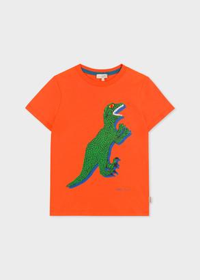 Paul Smith 2-6 Years Orange 'Dino' Cotton T-Shirt