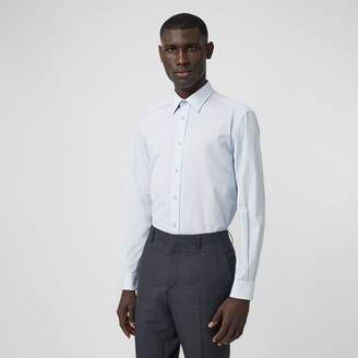 Burberry Classic Fit Striped Cotton Shirt