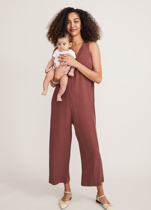 Hatch The Back In The Game Nursing Jumpsuit