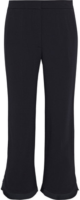 Stella McCartney Aliza Pleated Crepe Kick-flare Pants
