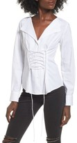 WAYF Women's Molly Corset Blouse