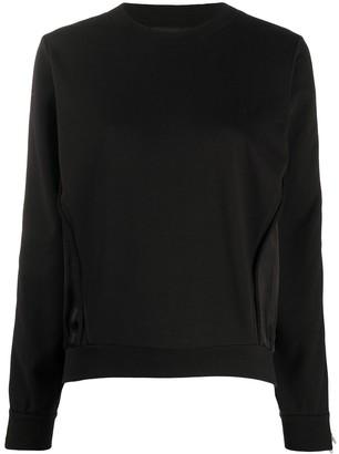Diesel Satin-Panelled Sweatshirt