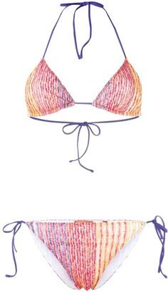 Missoni Mare Artist Stripe Metallic Bikini