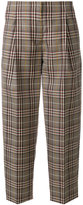 Victoria Beckham checked cropped trousers