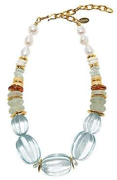 Lizzie Fortunato Women's Villa Goldplated, 13-14MM Freshwater Pearl & Multi-Beaded Necklace