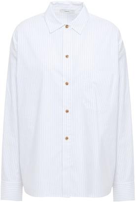 Vince Pinstriped Cotton-blend Poplin Shirt