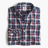 Thomas Mason Slim archive for J.Crew washed shirt in blue tartan