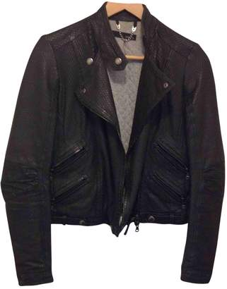 Dacute Black Leather Jacket for Women