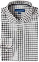 Vince Camuto White & Black Windowpane Slim Fit Dress Shirt