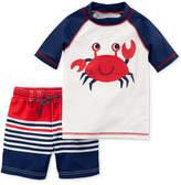Carter's 2-Pc. Crab-Print Swimsuit, Baby Boys