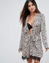 MinkPink Cheeta Fever Robe