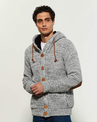 American Stitch Waffle Knit Hooded Long Sleeve Cardigan