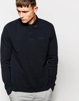 Ben Sherman Polo Shirt With Tipping Long Sleeves - Black