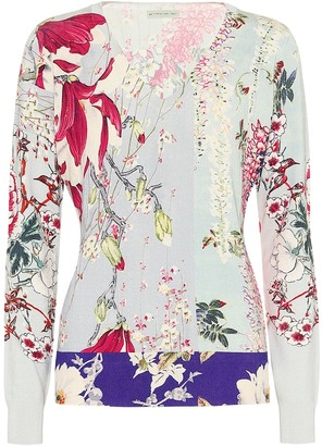 Etro Floral stretch-silk sweater