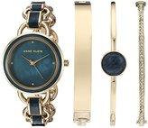 Anne Klein Women's Quartz Metal and Alloy Dress Watch, Color:Blue (Model: AK/2750NVST)