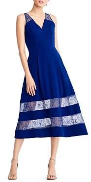 Aidan Mattox Lace-Inset Dress