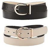 Charlotte Russe Reversible Faux Leather Belt