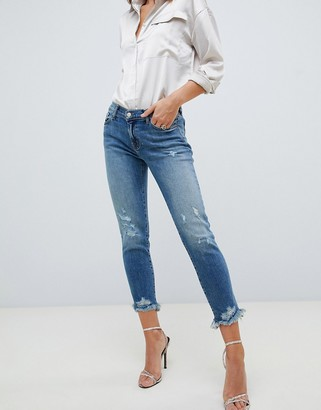 J Brand Sadey destroyed straight cut jeans-Blue