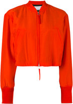 Alexander Wang cropped bomber jacket - women - Silk/Cotton/Polyester - 2