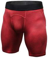 "LANBAOSI Men's 6"" Underwear Training Shorts Compression Baselayer Fitness Tight"