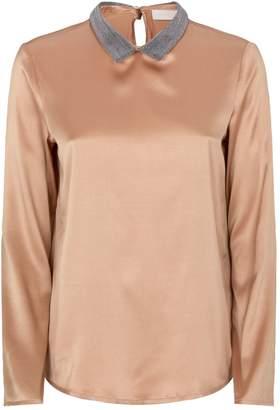 Fabiana Filippi Embellished Silk Blouse