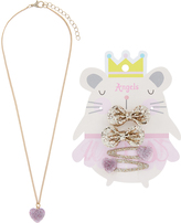 Accessorize Molly Mouse Hair Clips & Necklace Set