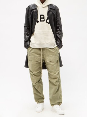 Fear Of God Drawstring Cotton-canvas Cargo Trousers - Green